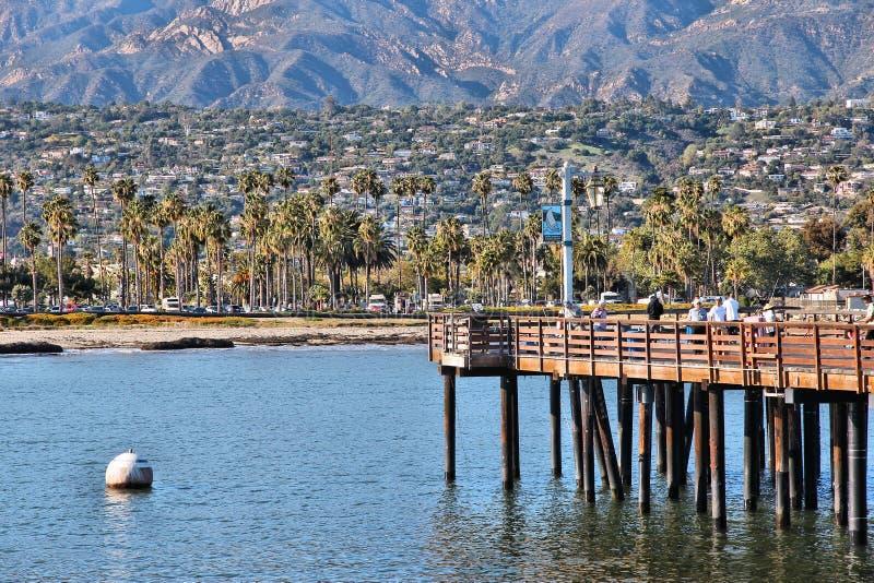 Muelle de Stearns, Santa Barbara fotografía de archivo