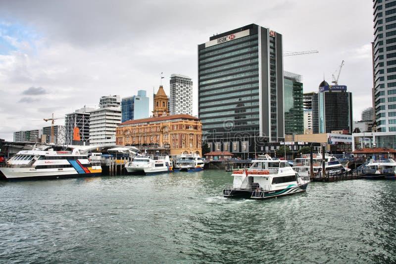 Muelle del Queens, Auckland imagenes de archivo