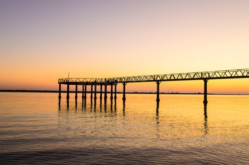 Muelle del Vigia, Mazagon, Huelva, ατλαντική ακτή, Ανδαλουσία, Ισπανία στοκ φωτογραφία