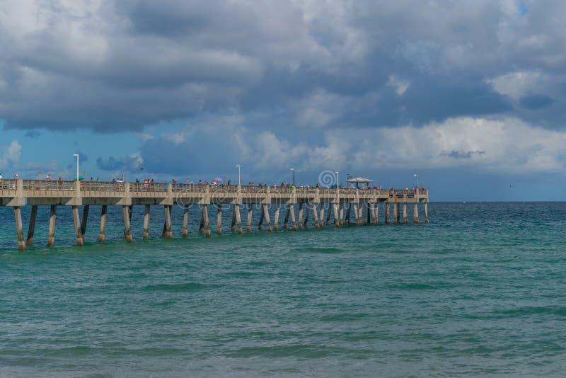 Muelle en Miami imagen de archivo
