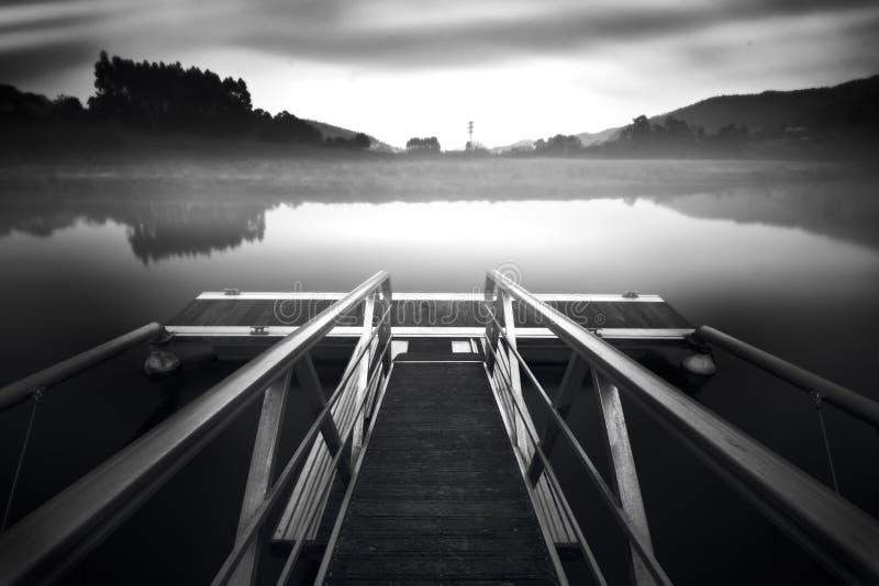 Muelle en un sueño fotografía de archivo