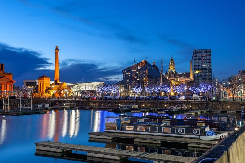 Muelle Liverpool de Albert imagen de archivo libre de regalías