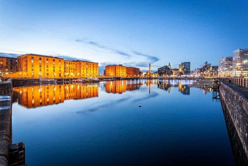 Muelle Liverpool de Albert fotografía de archivo libre de regalías