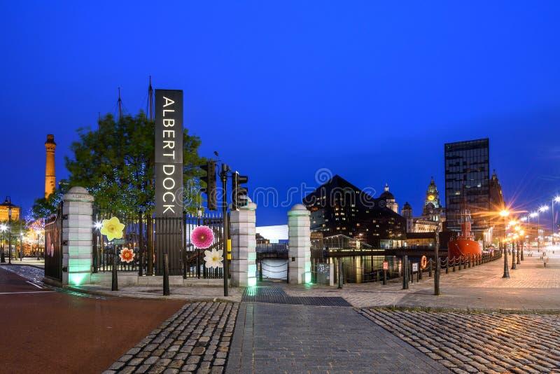 Muelle Liverpool Inglaterra de Albert imagen de archivo