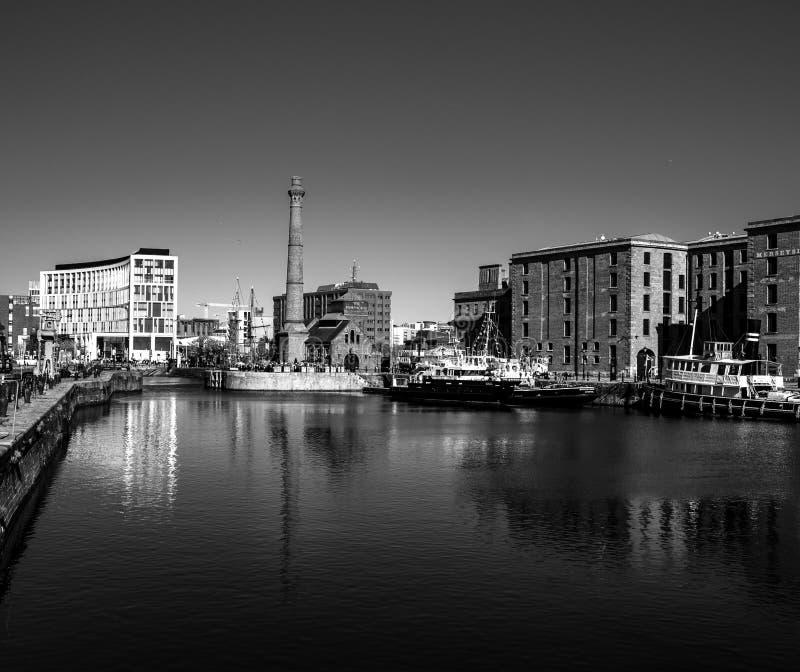 Muelle Liverpool Reino Unido de Albert imagenes de archivo