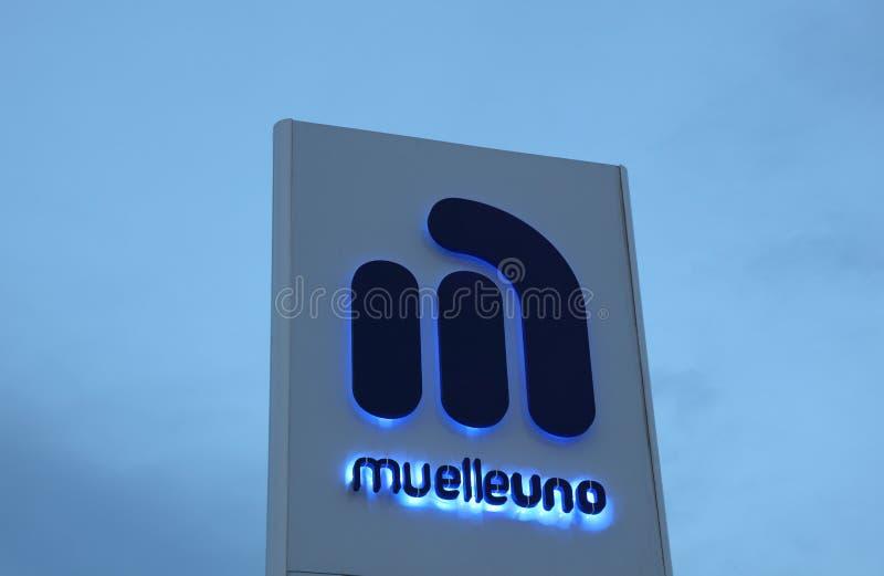Muelle Uno在马拉加,西班牙 库存照片
