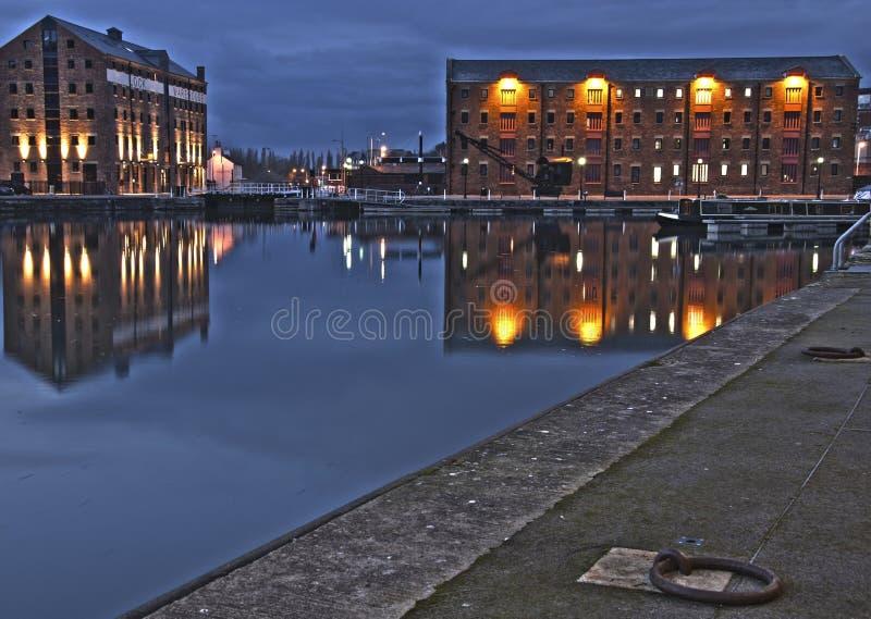 Muelles de Gloucester fotos de archivo