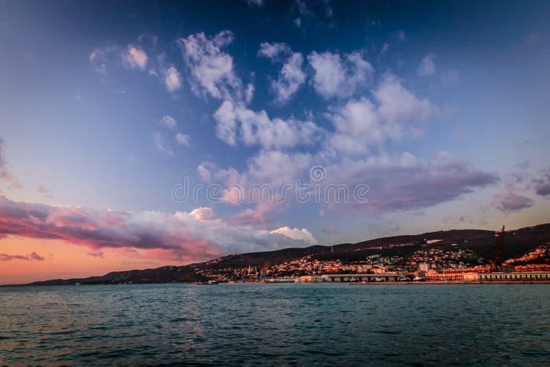 Muelles de Trieste fotografía de archivo libre de regalías