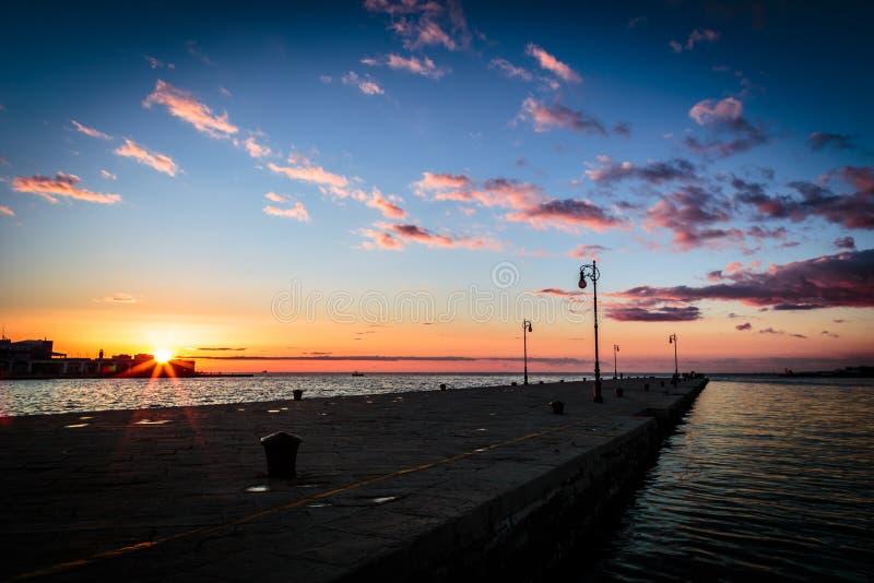 Muelles de Trieste fotografía de archivo