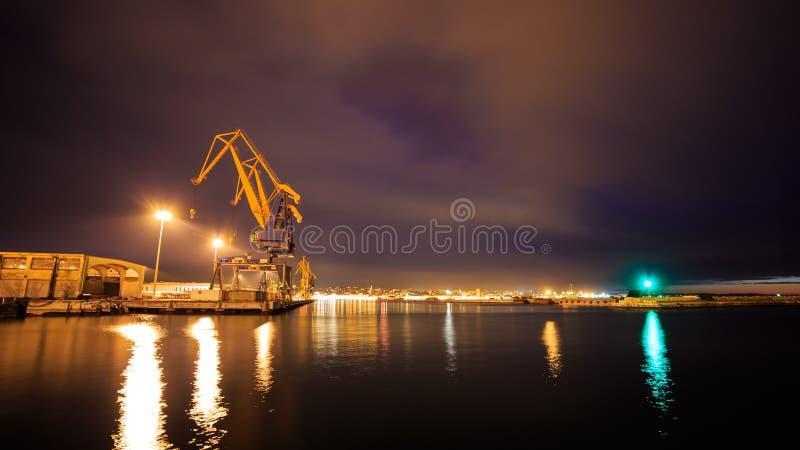 Muelles de Trieste foto de archivo libre de regalías