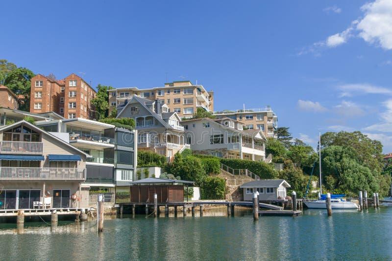 Muelles suburbanos de Sydney fotos de archivo
