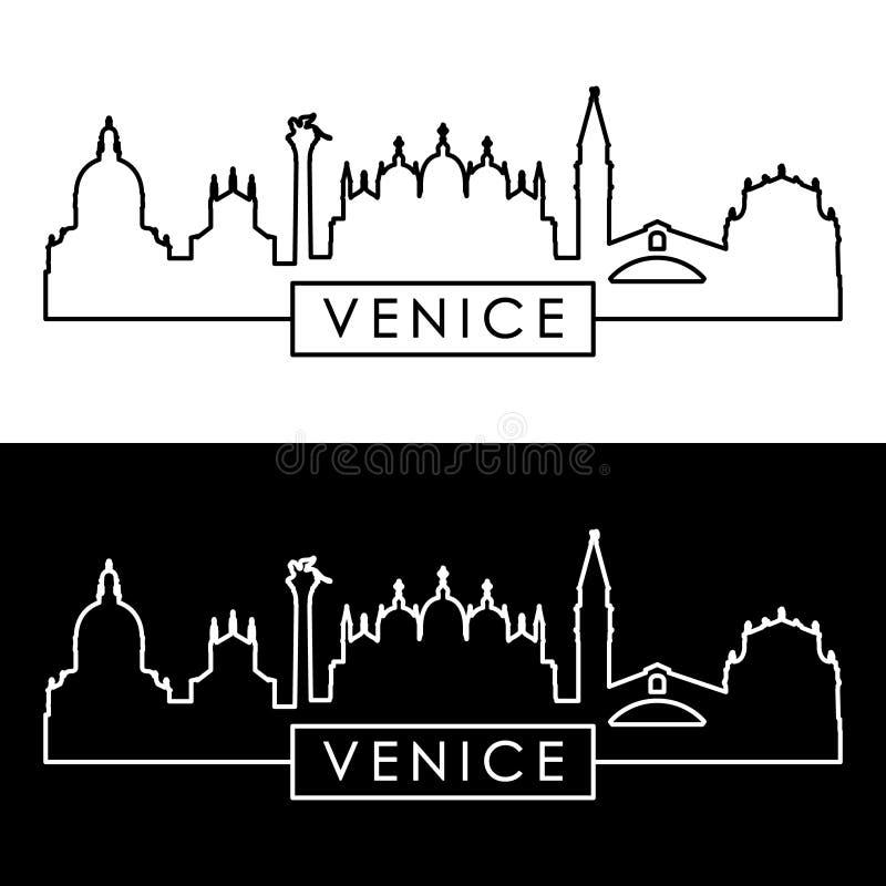 Muelles viejos de Venitian estilo linear libre illustration