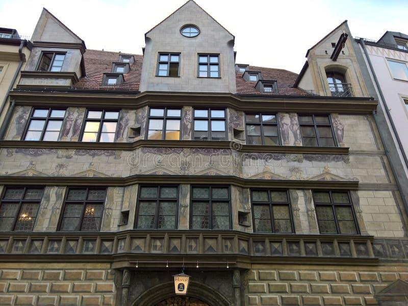 Muenchen Burgstrasse Weinstadl royaltyfri foto