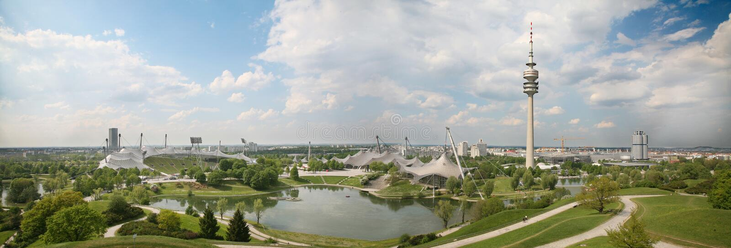 muenchen olympiapark fotografia stock
