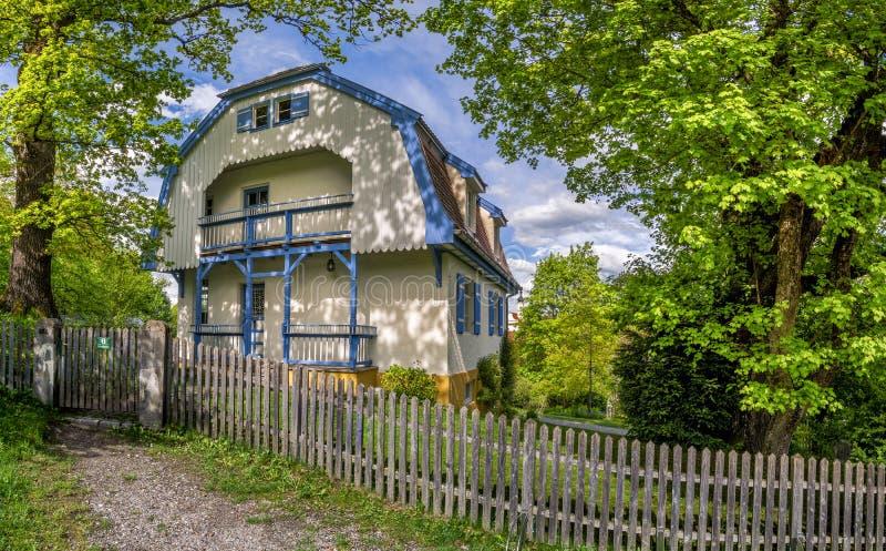 Muenter dom w Murnau, Bavaria, Niemcy fotografia royalty free