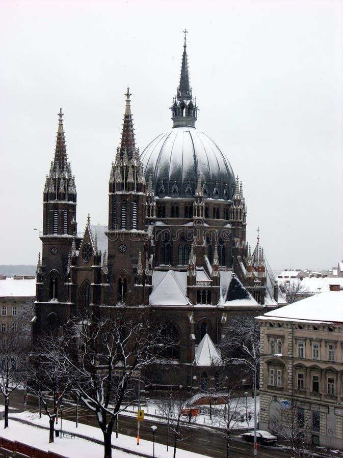 Muere el cerco del vom de Kirche Maria, iglesia de Maria Victorious en Wien, Austria imágenes de archivo libres de regalías