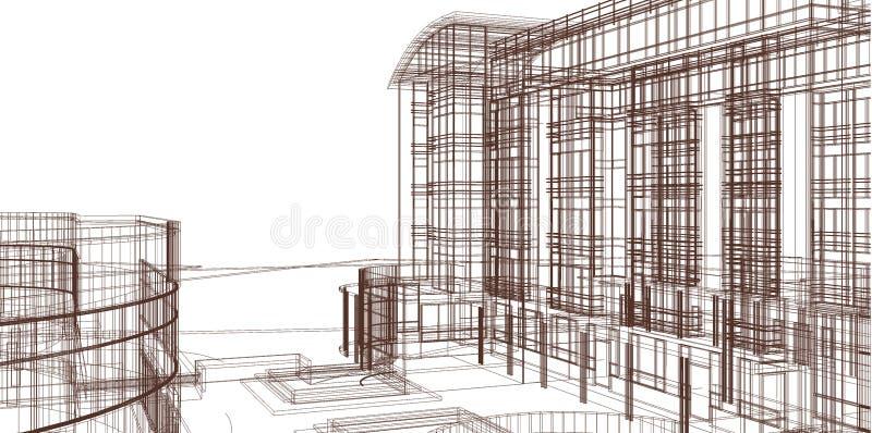Muere el vom de Skizze braunen Bleistift ilustración del vector