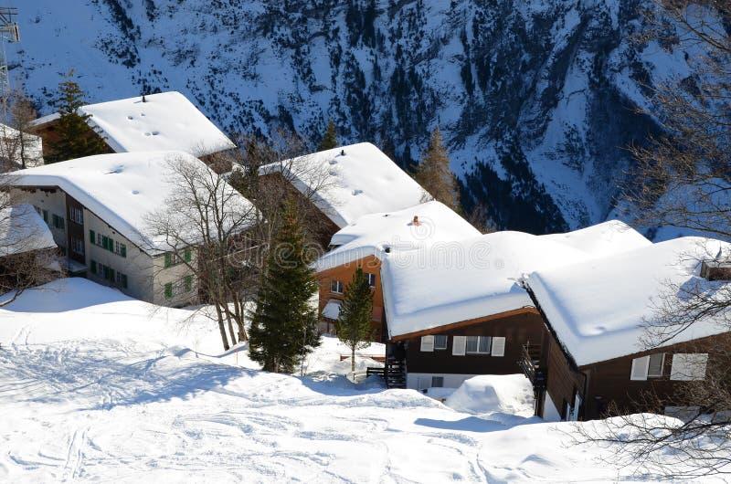 Download Muerren, Zwitserse Toevlucht Stock Foto - Afbeelding bestaande uit vorst, berg: 29506028