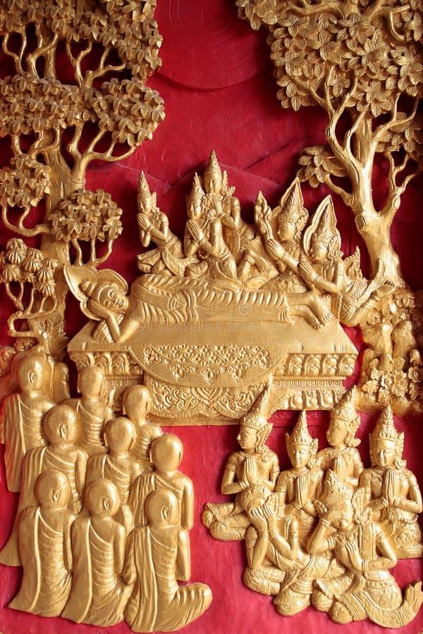 Muerte de Buddha foto de archivo libre de regalías