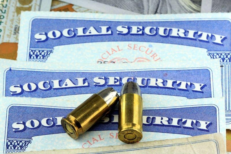 Muerte de las ventajas de Seguridad Social foto de archivo