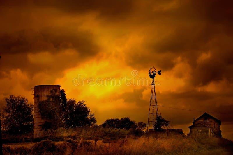 Muerte de una granja fotos de archivo libres de regalías