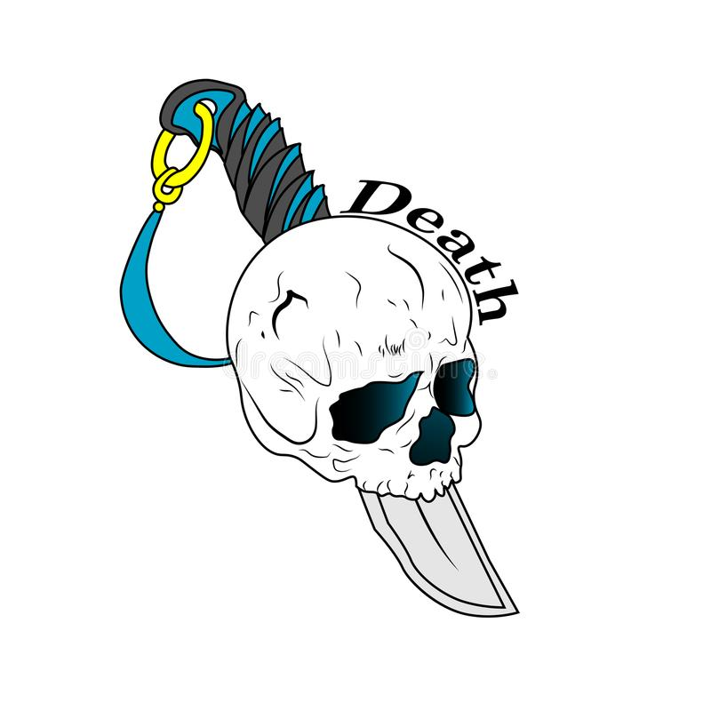 Muerte del cráneo fotografía de archivo libre de regalías