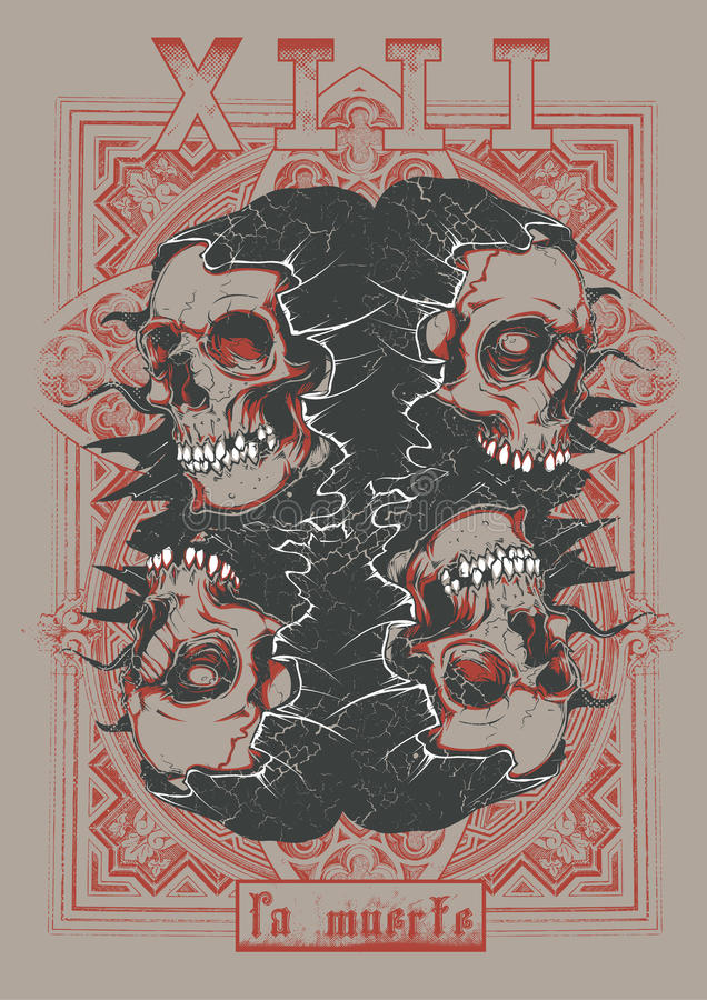 Muerte 13 do La ilustração royalty free