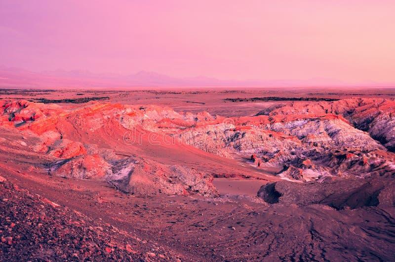 Muerte valle-Valle de Muerte en el tiempo de la puesta del sol imagenes de archivo