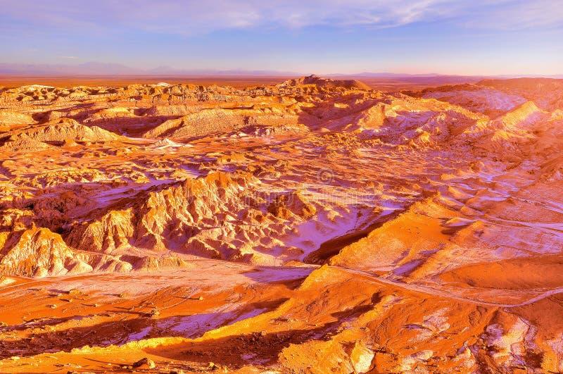 Muerte valle-Valle de Muerte en el tiempo de la puesta del sol foto de archivo libre de regalías