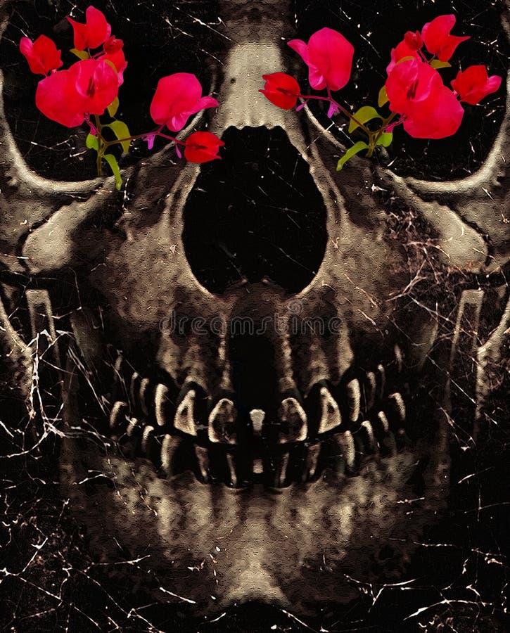 Muerte y flores ilustración del vector