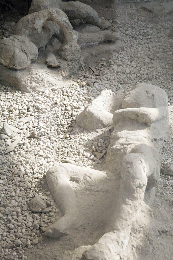 Muertos en pompeii imágenes de archivo libres de regalías