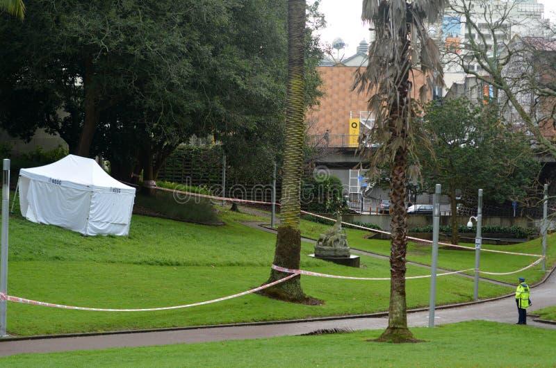 Muertos tirados hombre de la policía de Nueva Zelanda fotos de archivo libres de regalías