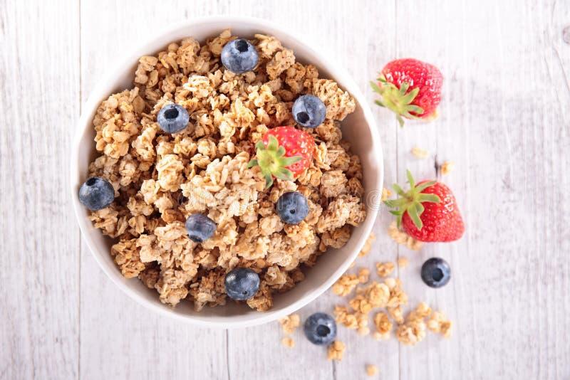 Muesli με τα φρούτα μούρων στοκ φωτογραφία με δικαίωμα ελεύθερης χρήσης