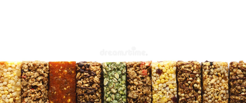 Muesli background, panorama royalty free stock photo