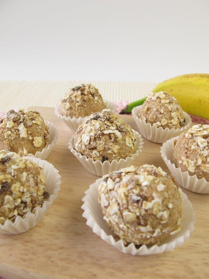 Muesli balls from roasted barley flour stock photos