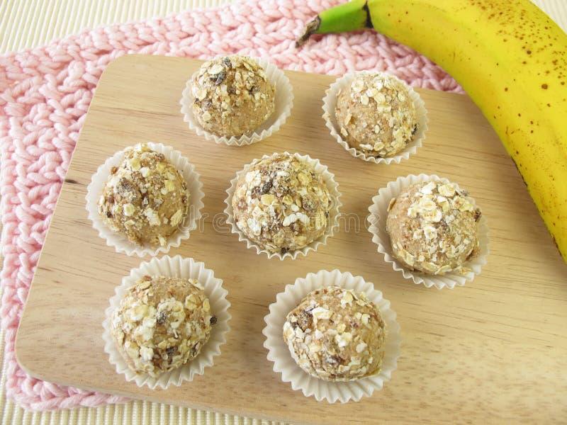 Muesli balls from roasted barley flour royalty free stock image