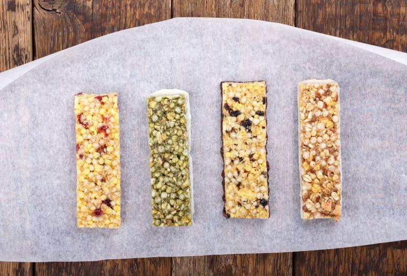 Muesli/barras de granola fotografia de stock