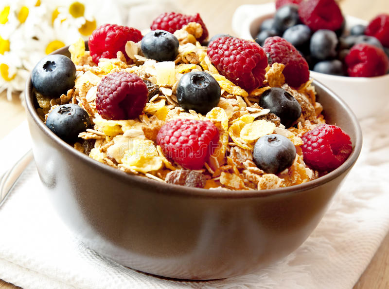 Muesli With Berries Stock Photo