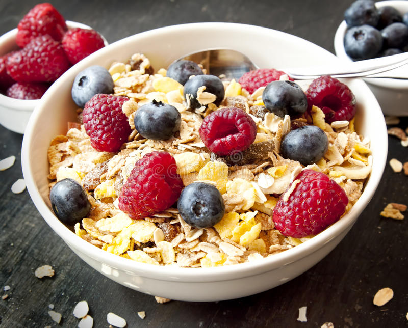 Download Muesli With Berries For Breakfast Stock Image - Image: 43268197