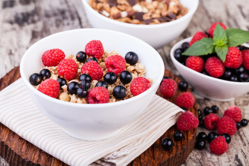 muesli breakfast royalty free stock photo