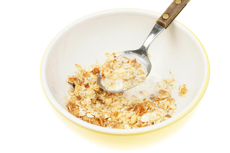 Muesli closeup royalty free stock photo