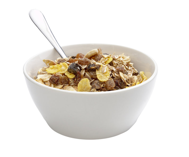 Muesli dish stock photo