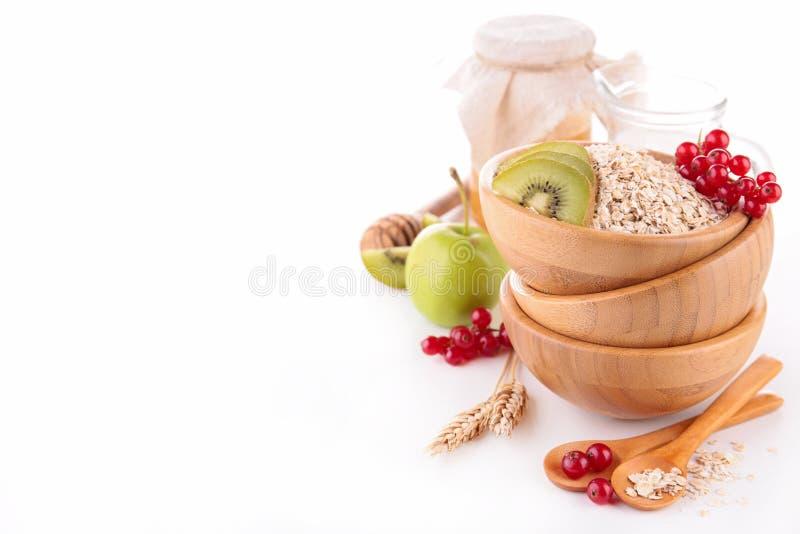 Muesli, lait et fruit photos stock