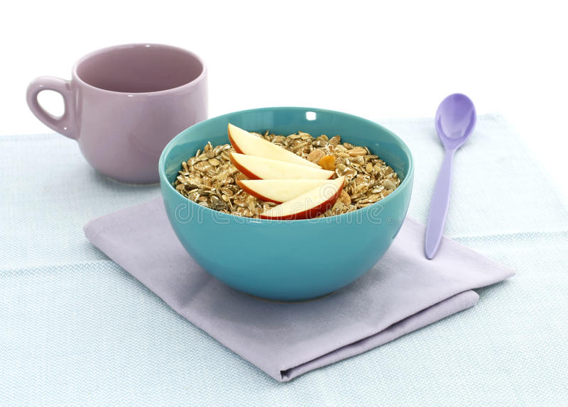 Download Muesli Of Oats And Apple In Bowl Stock Image - Image: 25246901