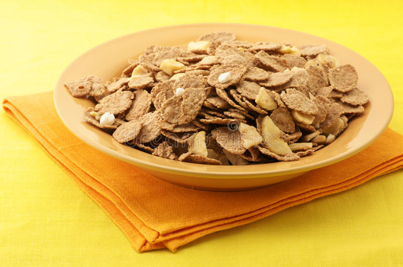 Muesli in plate stock photography