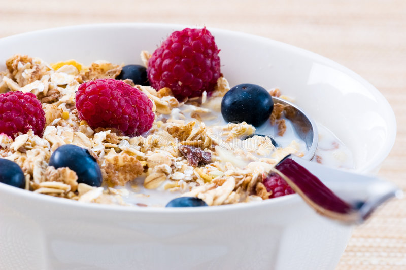 Download Muesli With Raspberries And Blueberries Stock Images - Image: 3772384