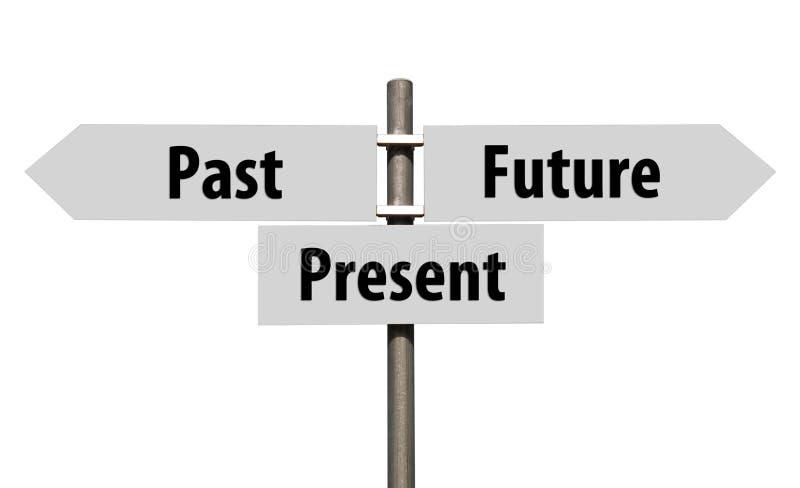 Muestra última, presente y futura imagenes de archivo