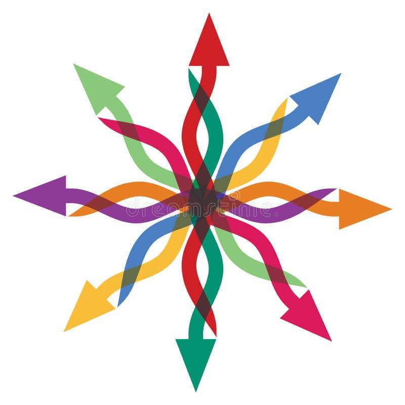 Muestra abstracta de las flechas ilustración del vector