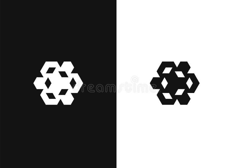 Muestra abstracta de las formas Elementos de la plantilla del diseño del logotipo libre illustration