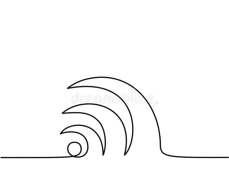 Muestra abstracta de Wi-Fi stock de ilustración